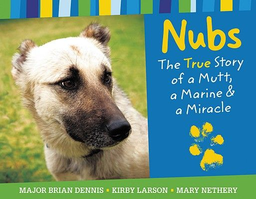 Nubs: The True Story of a Mutt, a Marine & a Miracle by Brian Dennis, Kirby Larson, and Mary Nethery