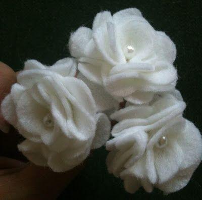 white felt flower, amazing!
