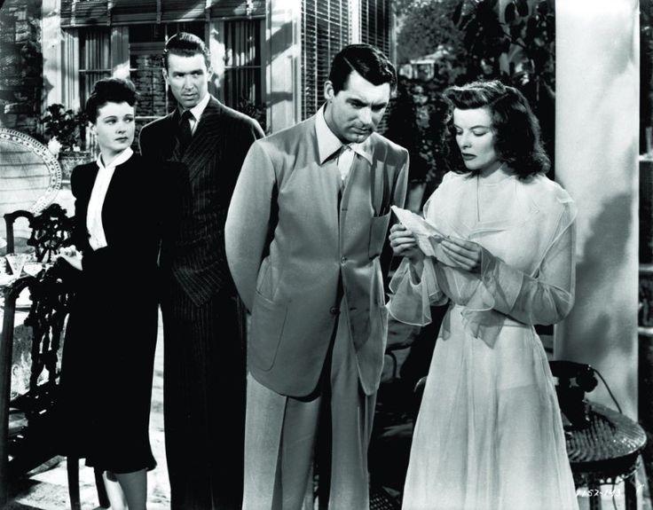 Cary Grant, Katharine Hepburn, James Stewart and Ruth Hussey in The Philadelphia Story