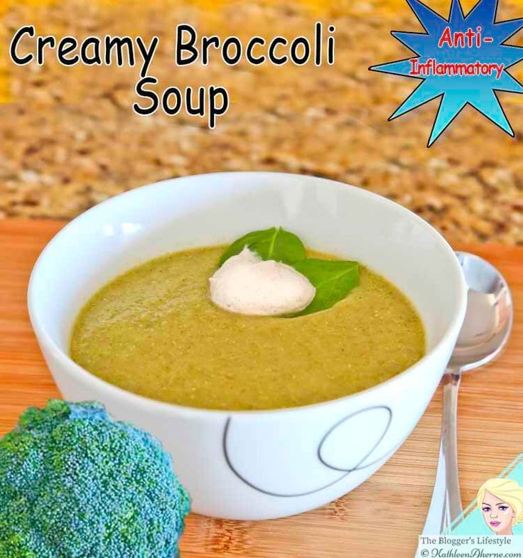 Creamy broccoli soup is both healthy and anti-inflammatory. The soup sits so well in the tummy, no bloating or discomfort.  It has a gentle spicy flavor and made creamy with avocado. It is Dairy free, GMO free, Grain free, Gluten free and absolutely delicious.
