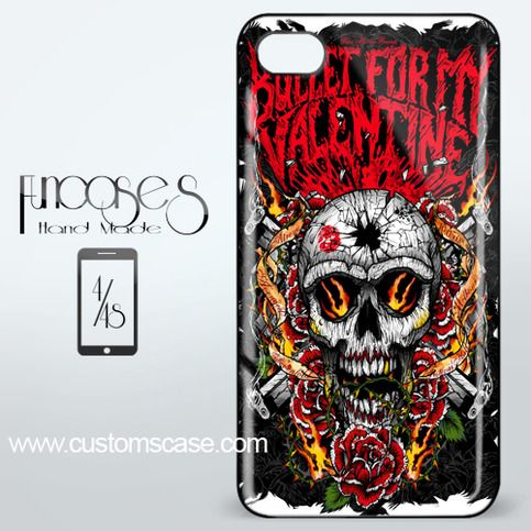 Bullet For My Valentine Skull iPhone 4 or 4S Case Cover from Funcases