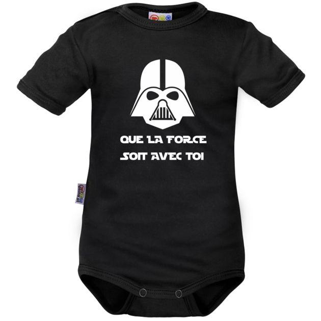 Body bébé noir : Que la FORCE soit avec toi - Family In Black