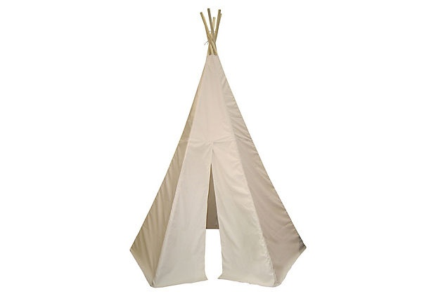 teepee for outside! Want Mike to build one of these for the kiddos :)