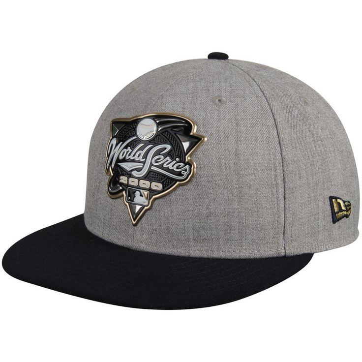 New York Yankees New Era 2000 World Series Championship Collection 9FIFTY Adjustable Snapback Hat - Heathered Gray/Navy