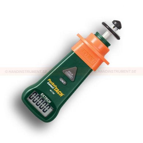 http://handinstrument.se/tachometer-stroboskop-r1243/varvraknare-varvtalsmatare-kontakt-53-461750-r1246  Varvräknare / varvtalsmätare, Kontakt  Stor lättläst LCD-display  Håll knappen fryser visad avläsning  Ergonomiskt utformade och fickformat instrumenthus med skyddande fingerskydd  Ytan hjul möjliggöra tachometer för att mäta linjära ythastighet i ft / min, m / min, och m / min Garanti: 2 År Leveranstid: 4-5 Veckor