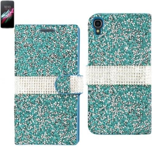 Reiko Diamond Flip Case Alcatel Onetouch Idol 3 5.5Inch Blue