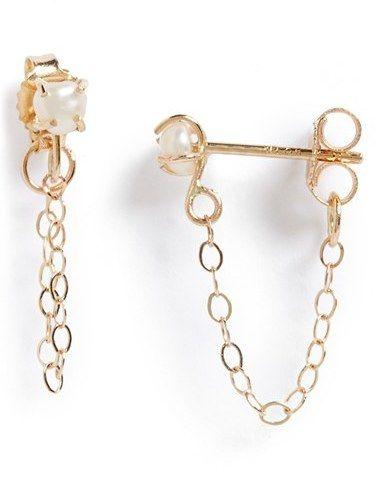 Women's Melissa Joy Manning Keshi Pearl Ear Chains