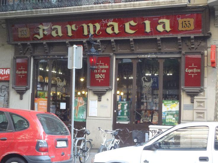 La farmacia madro al est situada en la calle comte - Calle borrell barcelona ...