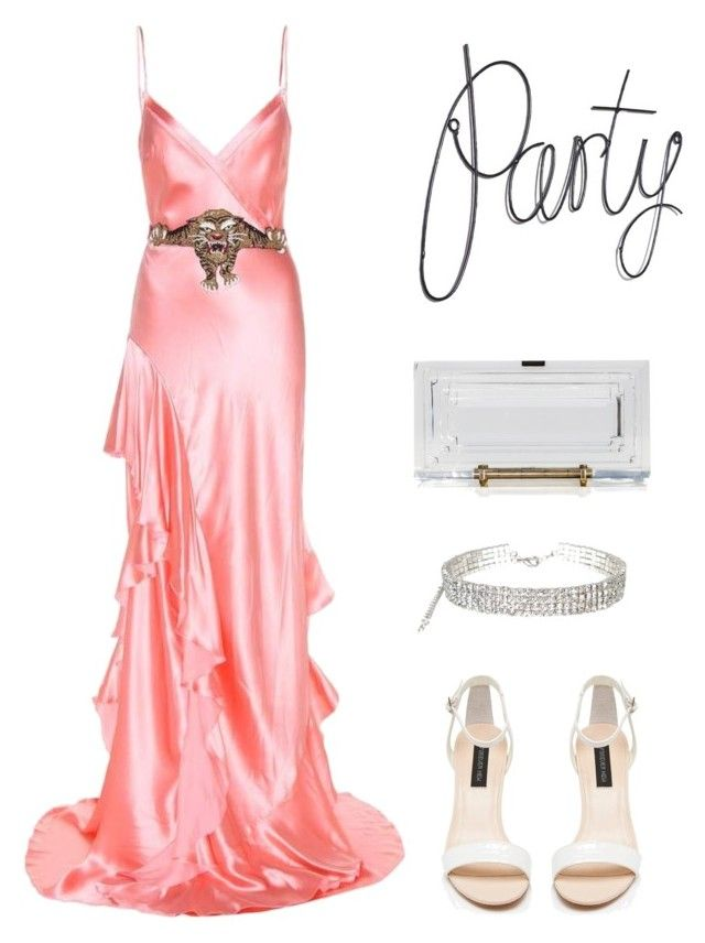 """Party🌺"" by parisianights on Polyvore featuring moda, Gucci, Forever New ve L'Afshar"