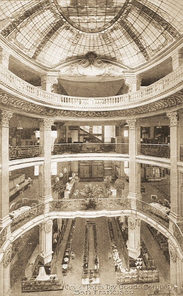 The old City of Paris store in San Francisco before it became Neiman Marcus.  The best department store in the world when I was a kid.