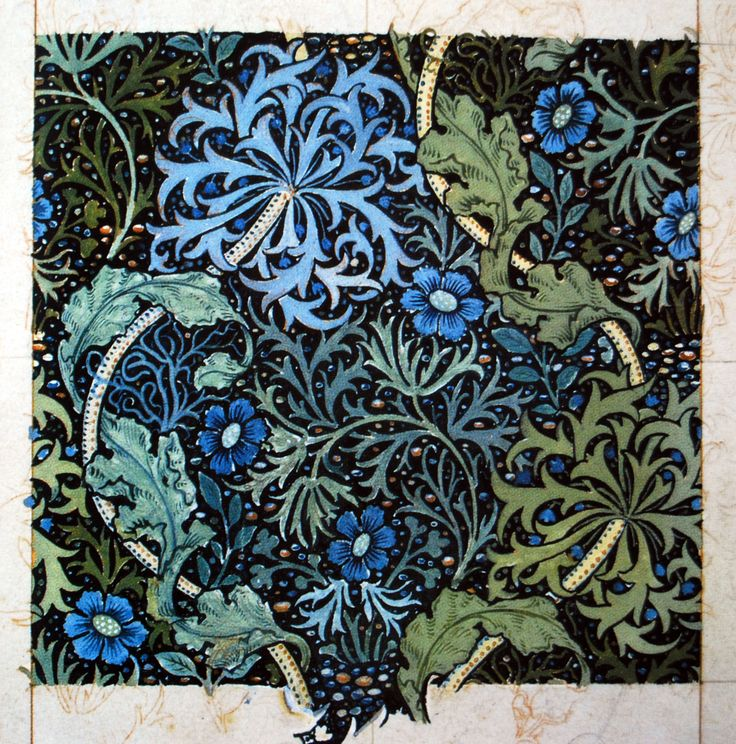 """Seaweed"" (1901) wallpaper design by John Henry Dearle for Morris  Co."