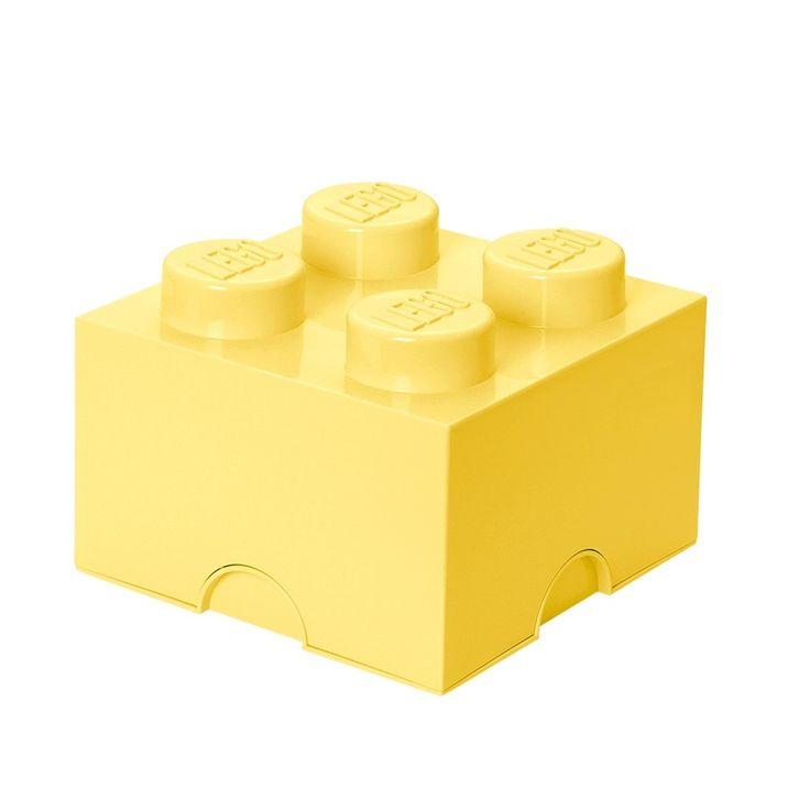 Jasnożółty pojemnik kwadratowy LEGO®