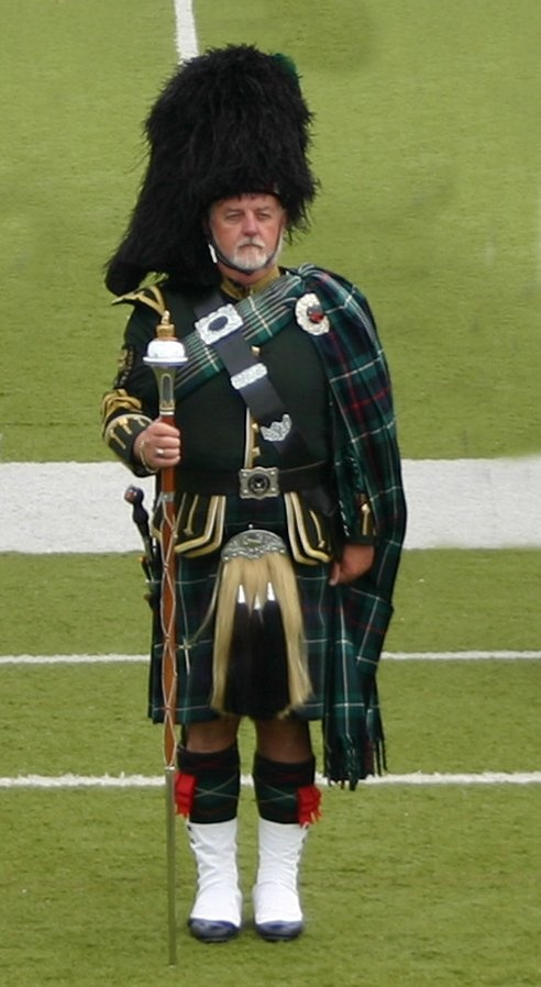 "Original Pinner, ""Don Bussell has been the Drum Major for the Flint Scottish Pipe Band for 30+ years. The Flint Scottish Pipe Band of Flint, Michigan, established in 1916, is the oldest pipe band in Michigan. Don has won the honor of First Place Drum Major at many competitions including the Alma Highland Festival (6), St. Andrews Society of Detroit Highland Games (7), Midlothian, Illinois Highland Games (1), and Sarnia, Ontario Highland Games (1). Friend of Chuck & Marcy LaSalle."