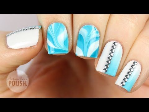 62 best blue nail art designs tutorials and ideas images on taking a look at water marble nail artwork you appear to suppose its very tough and sophisticated to color the reality is its simpler than you assume prinsesfo Choice Image