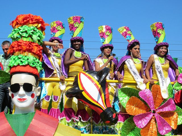 Barranquilla's Carnaval floats are huge and colorful -