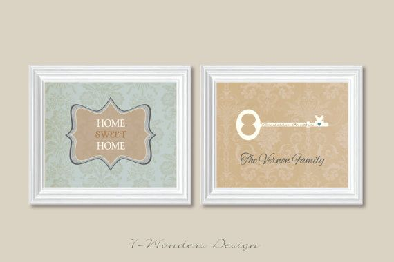 Home Sweet Home ist Schlüssel zu den Familiennamen eine wunderbare moderne Art zu zeigen, Ihre Familie und Freunde, dass dies Ihre speziellen