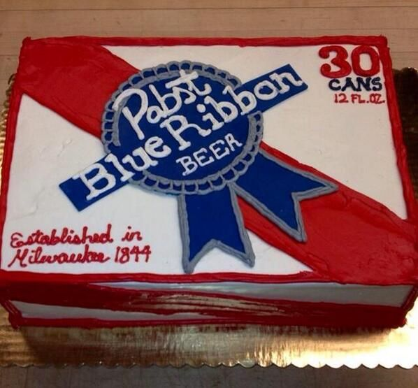 pabst blue ribbon cake - Google Search