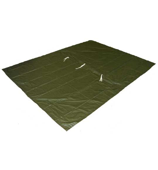 8 ft. x 10 ft. Ultralight Backpacking Tarp || 13oz, great reviews. Might need to be seals around the velcro. Free shipping from Amazon