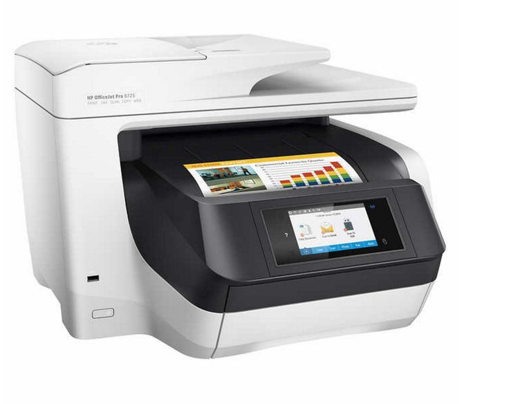 New HP OfficeJet Pro 8725 All-in-One Digital Wireless Printer Scanner and Fax