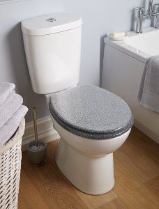 George Home Glitter Toilet Seat - Silver | Bathroom Fittings | George at ASDA
