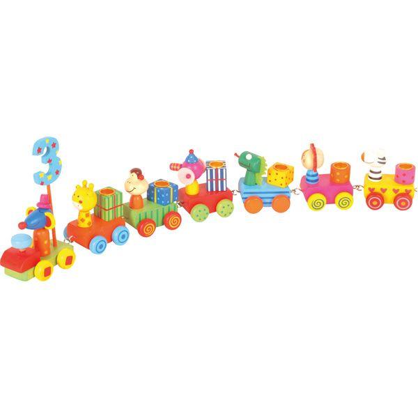 Drewniana urodzinowa ciuchcia #creative #toys #wooden #train #kids #birthday  http://www.mojebambino.pl/balony-proporczyki-i-inne-akcesoria-urodzinowe/1228-urodzinowa-ciuchcia-0-9.html?search_query=521&results=80