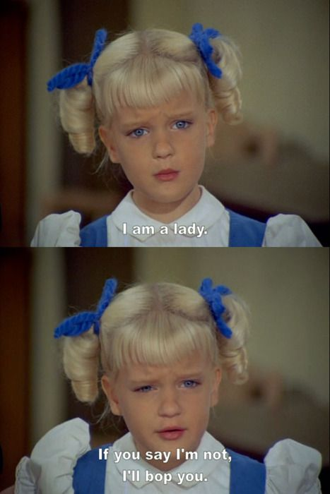 Cindy Brady.  Priceless.