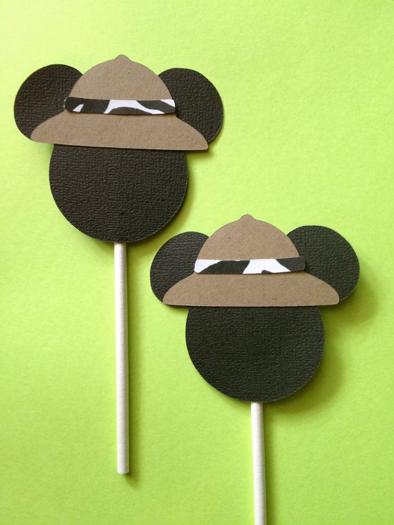 Safari Mickey Mouse Happy Birthday Cupcake Toppers by SuttonandCo, $5.00