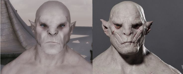 Made Azog the Defiler with a lot of racemenu sculpting #games #Skyrim #elderscrolls #BE3 #gaming #videogames #Concours #NGC