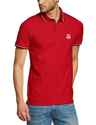 SELECTED HOMME Herren Poloshirt Season ss polo NOOS T, Einfarbig, Gr. Large, Rot (Chili Pepper)