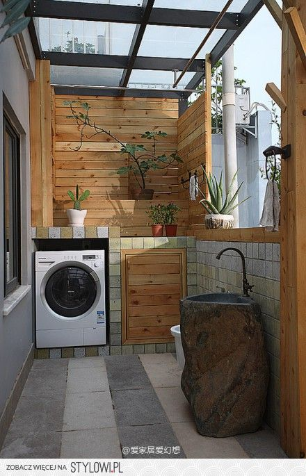 Laundry Area Design Outdoor Urban Home Interior