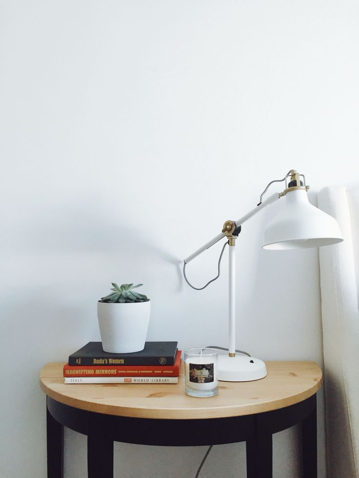 Bedside table styling - modern and minimalist