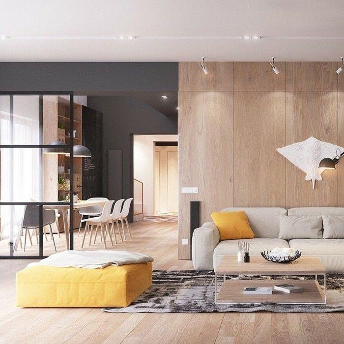 Wandverkleidung-modern-schlafzimmer-104. 70 besten wandgestaltung ...