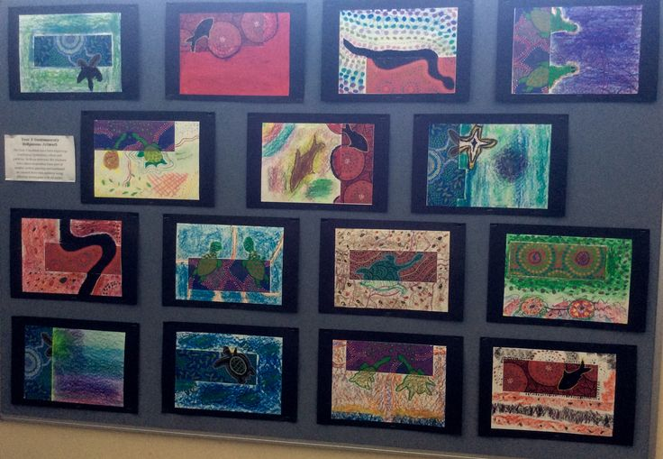 Year 5 Contemporary Indigenous mixed media collage