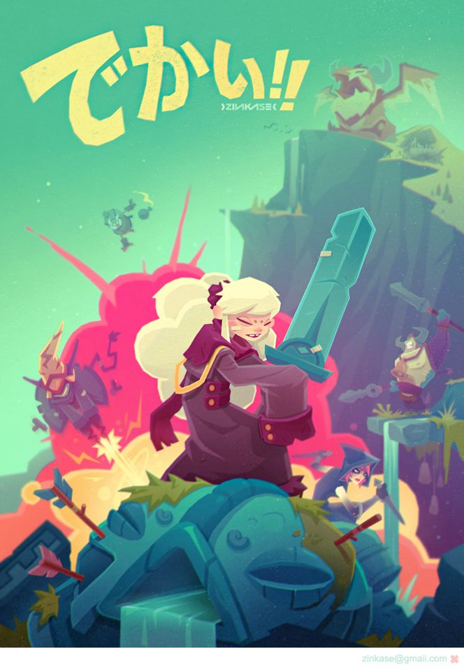 Indie G zine project based on GIGANTIC