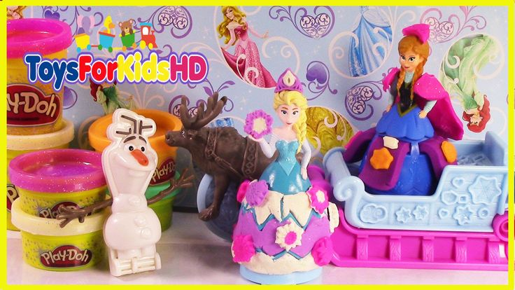 NUEVOS JUGUETES DE FROZEN!! ANA ELSA Y OLAF DE PLAY DOH - TOYSFORKIDSHD