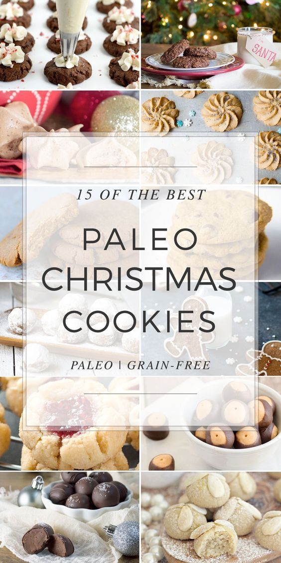 """We've gathered a list of the top 15 Paleo Christmas Cookies for you to try this holiday season. Gingerbread, """"Sugar"""", Chocolate, Spritz, truffles and more."""