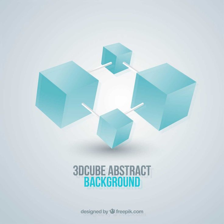Abstract 3d Cubes - FREE