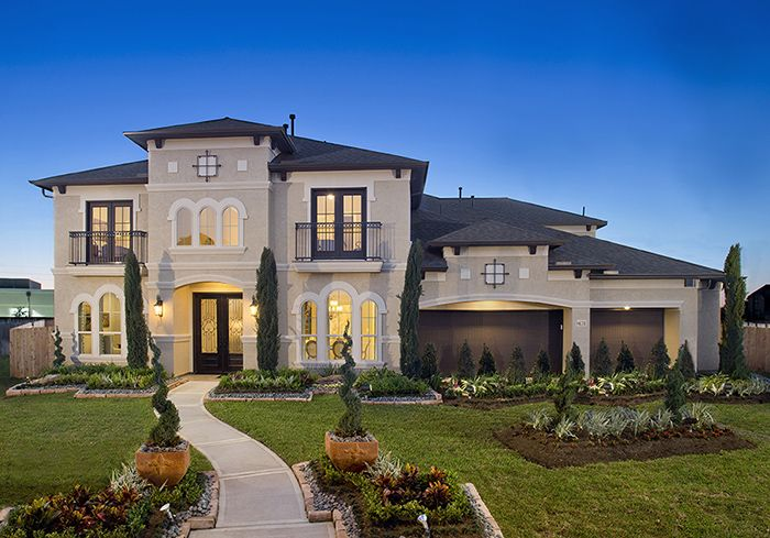Perry homes firethorne model home design 4931s for Houston home plans