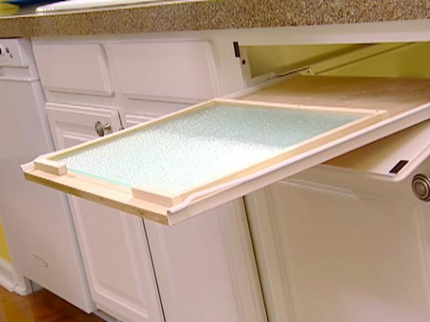 Here are the diy basics on installing a pull out cutting for Diy cutting board storage