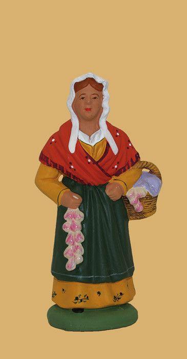 Santons Escoffier Aubagne en Provence - La femme à l'aïl