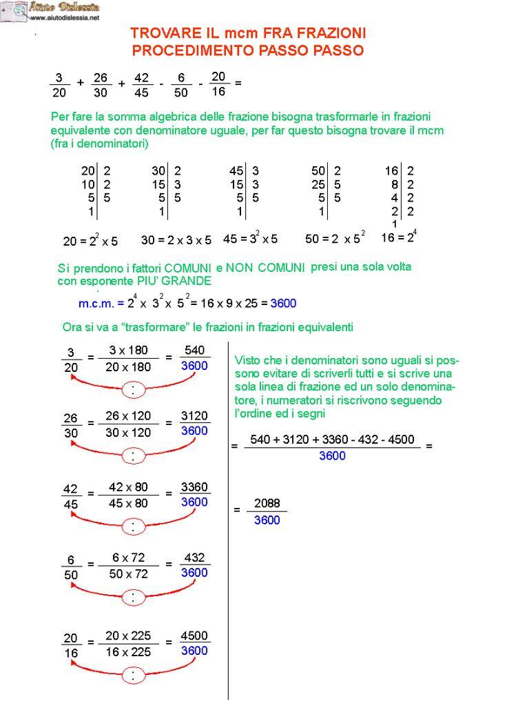 09. Come trovare il mcm fra frazioni passo passo