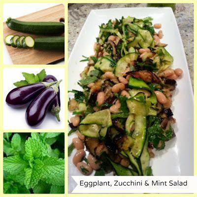 Eggplant, Zucchini & Mint salad