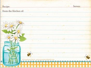 {Freebies for Mom} Gooseberry Patch 3 Free Recipe Card Printables*Gooseberry Patch Cookbook Garfield Recipes with Cattitude Cookbook Review and Giveaway from SusieQTpies Cafe