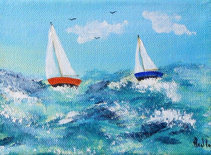 Tableau petit prix de deux voiliers en r gate tableaux petits prix peintur - Prix tableau peinture ...