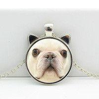 Collane con cammeo - Collana bulldog francese - un prodotto unico di Le-gemme-di-Hemet su DaWanda