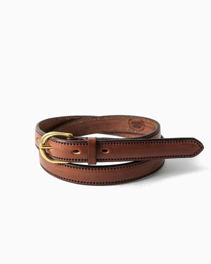 CLEVEDON - handmade leather women's belt, stocked by Frame Fukukoa in Japan