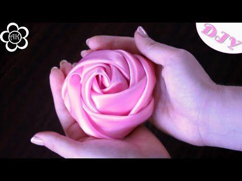 getlinkyoutube.com-Роза Скрученная из Ткани / DIY Fabric Flowers
