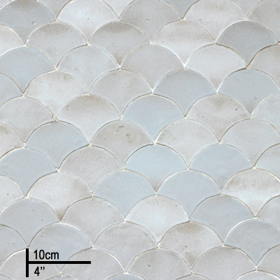 Zellige, Moroccan glazed tiles in a wide range of pearlised colours.
