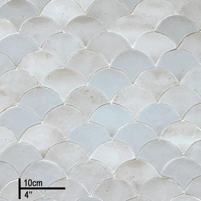 White Zellige Tiles Counter Kitchen