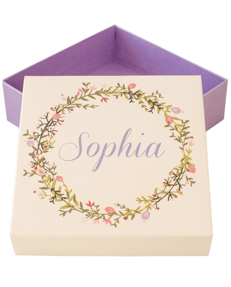 Purple bridesmaid boxes Maid of Honor gift box purple bridal shower gifts
